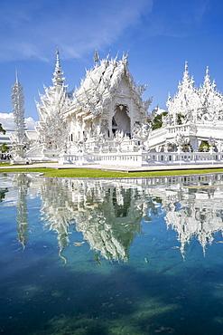 Wat Rong Khun (White Temple), Chiang Rai, Northern Thailand, Thailand, Southeast Asia, Asia