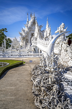 Detail of hands, Wat Rong Khun (White Temple), Chiang Rai, Northern Thailand, Thailand, Southeast Asia, Asia