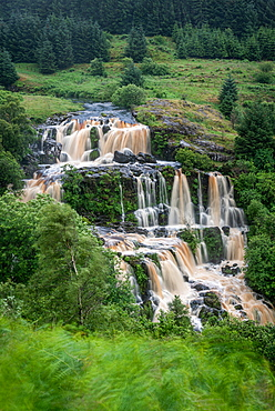 The Loup of Fintry waterfall on the River Endrick, located approximately two miles from Fintry village, near Stirling, Scotland, United Kingdom, Europe - 1287-110