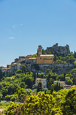 The medieval village of Eze, Alpes Maritimes, Provence Alpes Cote D'Azur, French Riviera, France, Europe