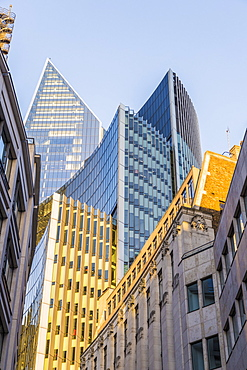 Architecture including the Scapel in the City of London, London, England, United Kingdom, Europe