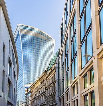 20 Fenchurch Street building also known as the Walkie Talkie, in the City of London, London, England, United Kingdom, Europe