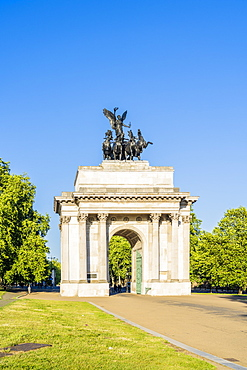 Wellington Arch at Hyde Park Corner, London, England, United Kingdom, Europe