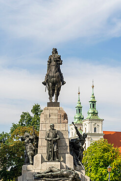 Grunwald Monument, Krakow, Poland, Europe