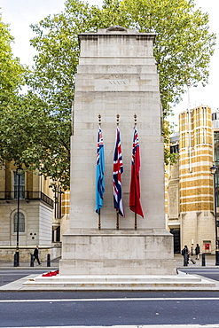 The Cenotaph War Memorial in Whitehall, Westminster, London, England, United Kingdom, Europe