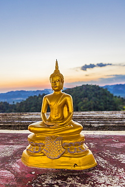 A statue of Buddha at the Tiger Cave Temple in Krabi, Thailand, Southeast Asia, Asia
