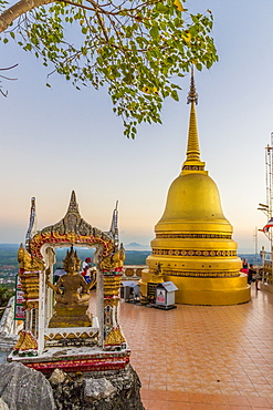 The top of the Tiger Cave Temple in Krabi, Thailand, Southeast Asia, Asia