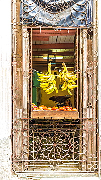 A local store selling fruit in Havana, Cuba, West Indies, Caribbean, Central America