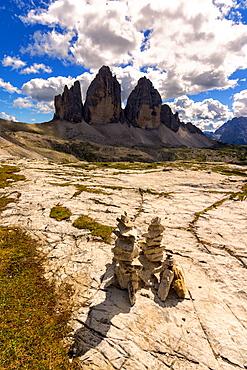 Three peaks of Lavaredo, Natural Park of the Three Peaks of Lavaredo, Bolzano Province, Trentino-Alto Adige, Italy, Europe