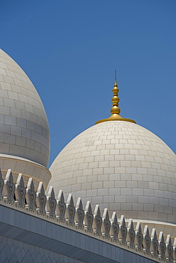 Detail of The Grand Mosque, Abu Dhabi, United Arab Emirates, Middle East
