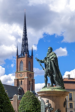 The Riddarholm Church, the burial church of the Swedish monarchs, Stockholm, Sweden, Scandinavia, Europe