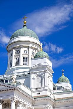 Detail of Helsinki Cathedral, Helsinki, Finland, Scandinavia, Europe