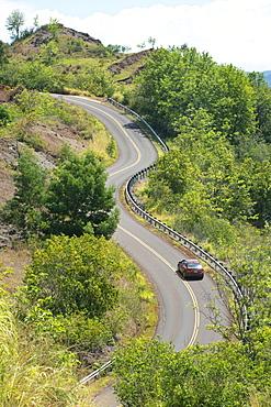 Winding road on Kauai, Hawaii, United States of America, North America
