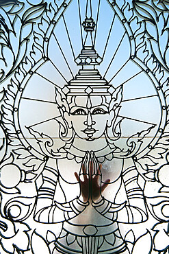 Buddhist motif out of wrought iron at the Royal Palace, Phnom Penh, Cambodia, Indochina, Southeast Asia, Asia