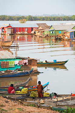 Floating village, Cambodia, Indochina, Southeast Asia, Asia
