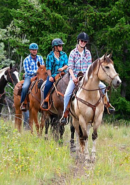 Trail riders in Merritt, British Columbia, Canada, North America