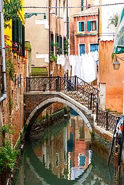 Canal in Venice, UNESCO World Heritage Site, Veneto, Italy, Europe