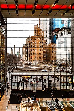 Columbus Circle shopping area view, Manhattan, New York, United States of America, North America