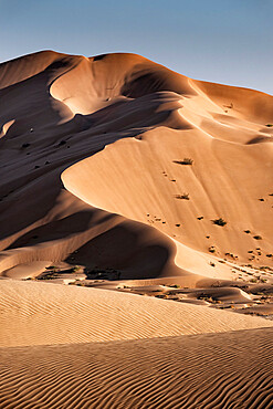 High sand dunes in the Rub al Khali desert, Oman, Middle East