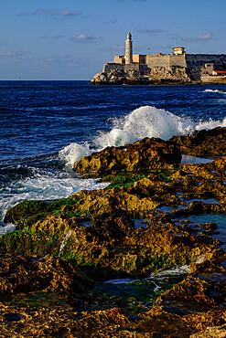 Morro Castle and lighthouse guard the entrance to Havana bay, Havana, Cuba