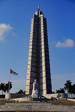 Jose Marti Monument in Plaza de la Revolucion (Revolution Square), Havana, Cuba, West Indies, Central America