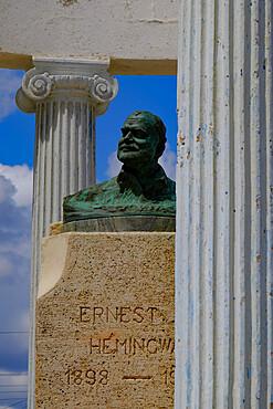 Sculpture of Ernest Hemingway at Cojimar Fort, Cojimar, Cuba