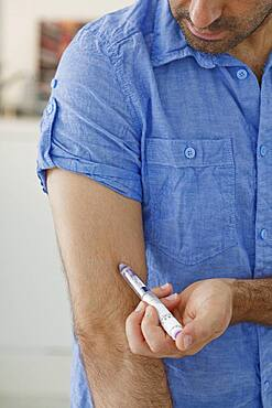 Treating diabetes in a man