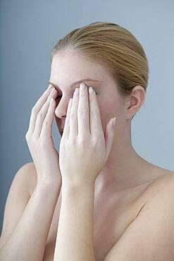 Eye pain in a woman