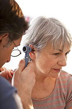 Ear nose & throat, elderly person