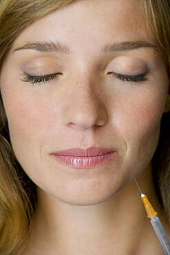 Collagen treatment, woman