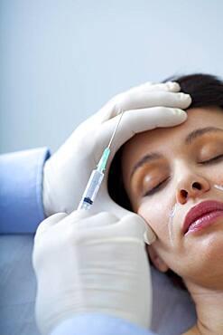 Botox treatment, woman