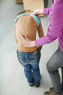 Back pb. in child, semiology