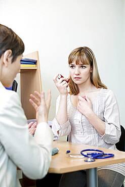 Asthma treatment, woman