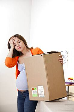 Active pregnant woman indoors
