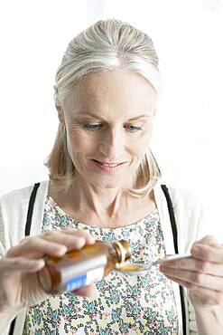 Coughing treatment elderly person