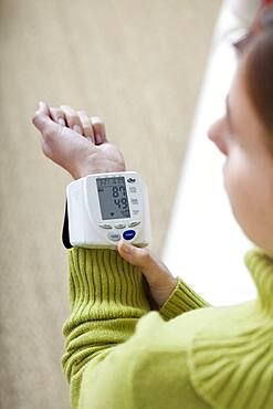Woman with low blood pressure