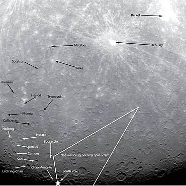 Mercury, Annotated Guide to the First Orbital Image