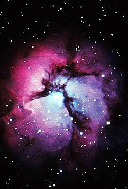 Glowing Trifid Nebula