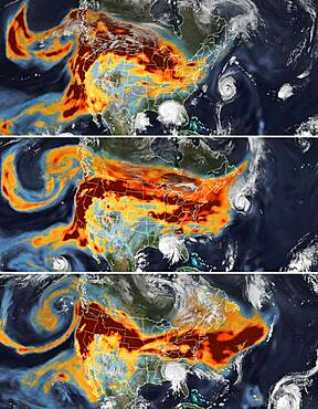 Wildfires' Smoke Meets Tropical Cyclones