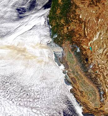 Wildfire Smoke Over Pacific Ocean