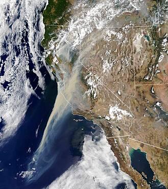 Northern California Wildfire Smoke Plumes