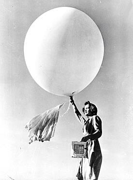 Launching Pilot Balloon, 1944