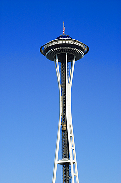 The Space Needle at Seattle Center in Seattle, Washington.