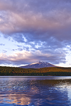 Mount McLoughlin from Willow Lake, Southern Oregon Cascades.
