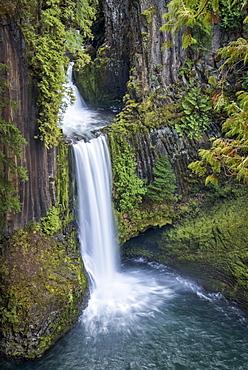 Toketee Falls, North Umpqua River, Umpqua National Forest, Oregon.