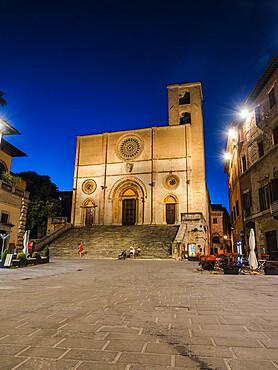 Santissima Annunziata's Cathedral in Todi's Piazza del Popolo