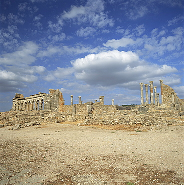 Roman city of the 3rd century, Volubilis, UNESCO World Heritage Site, Morocco, North Africa, Africa