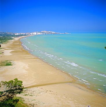 Coastline towards Vieste, Puglia, Italy