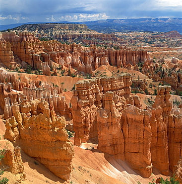 Pinnacles and rock formations caused by erosion viewed from Inspiration Point, in the Bryce Canyon National Park, Utah, United States of America, North America