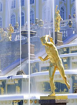 The Great Palace, Petrodvorets (Peterhof), St. Petersburg, Russia